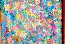 PAINTINGS & CANVAS by LAURA / Acrylic paintings and other crafts  / by Laura Buxbaum Landry