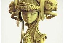 MODELS ▲▲ / 3D models :: vinyl models :: character sculptures :: CG art