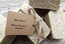 EXFOLIATING SOAP ▲▲ / salt scrub bars :: coffee scrub soap :: loofah soap