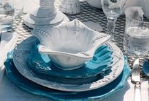 Dishes, chargers, flatware and serving pieces / by Carol Wootton