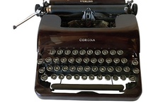 Typewriters / I have a crazy fascination with typewriters. I grew up learning how to type on one and haven't really gone away from them since. Just bought my first antique typewriter and even have a typewriter key as a pendant. Anyone else?