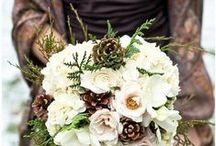 Bridal Bouquets / Flowers are the perfect accent for your wedding day.  Cascades, hand-tied, and nosegays are among the many options.  Budget saving tip:  choose flowers that are in season for your region.    Keep bouquets in proportion to the attendant, too.