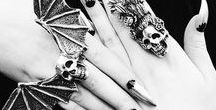 Goth Accessories / Skulls and bats, there's no better way to accessorize