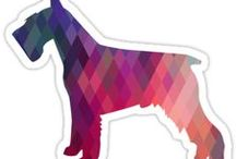 Schnauzer Gifts by Breed Collection / Schnauzer illustrations created by TriPodDog Design for the Breed Collection. Colorful, fresh dog breed silhouettes.