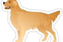 Golden Retriever Gifts by Breed Collection / Golden Retriever illustrations created by TriPodDog Design for the Breed Collection. Colorful, fresh dog breed silhouettes.
