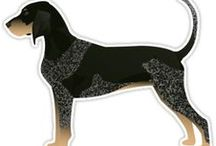 Bluetick Coonhound Gifts by Breed Collection / Bluetick Coonhound illustrations created by TriPodDog Design for the Breed Collection. Colorful, fresh dog breed silhouettes.