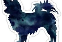 Chihuahua Gifts by Breed Collection / Chihuahua illustrations created by TriPodDog Design for the Breed Collection. Colorful, fresh dog breed silhouettes.