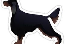 Gordon Setter Gifts by Breed Collection / Gordon Setter illustrations created by TriPodDog Design for the Breed Collection. Colorful, fresh dog breed silhouettes.