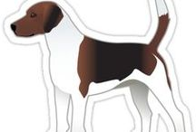 Harrier Gifts by Breed Collection / Harrier illustrations created by TriPodDog Design for the Breed Collection. Colorful, fresh dog breed silhouettes.