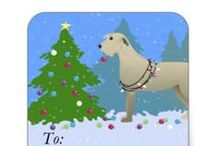 Wolfhound Gifts by Breed Collection / Irish Wolfhound illustrations created by TriPodDog Design for the Breed Collection. Colorful, fresh dog breed silhouettes.