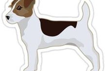 Jack Russell Terrier Gifts by Breed Collection / Jack Russell Terrier illustrations created by TriPodDog Design for the Breed Collection. Colorful, fresh dog breed silhouettes.