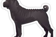 Chinese Shar Pei Gifts by Breed Collection / Chinese Shar Pei illustrations created by TriPodDog Design for the Breed Collection. Colorful, fresh dog breed silhouettes.