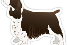 Springer Spaniel Gifts by Breed Collection / Springer Spaniel illustrations created by TriPodDog Design for the Breed Collection. Colorful, fresh dog breed silhouettes.