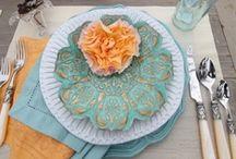 Turquoise and Orange Wedding / Turquoise & Orange Wedding Inspiration