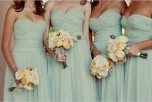 Trend Alert: Touches of Mint / Mint is the color of the season, and naturally the fashion trend extends to fashionable weddings. We love pastel mint as a wedding color. It's soft and sweet with major retro appeal.