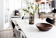 dining rooms / interior inspiration of dining room styling / by Tarah Sutton