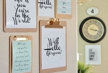 Oh So Organized / Getting and staying organized, can be a challenge, especially for creative types.  We've 'organized' some tips to help!