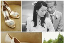 My Glass Slipper - Brides / We love seeing pictures of brides wearing our shoes from My Glass Slipper. Shop these styles at http://www.myglassslipper.com/