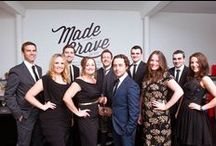 Team | MadeBrave® / We're all mad here, no really. Whether we're dressing up as babies or photoshopping our faces on pumpkins - there's a lot of crazy in these creative minds #office #funny