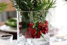 Christmas Centerpieces / That important spot at the middle of the table should be beautiful.