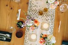 Decor | Table Runners / table runners are a great way to add color and texture to your table