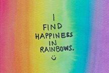 Rainbows make me smile / by Rachael Stella