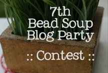 Contest Entries for Bead Soup Blog Party 7 / If you would like your pieces you made for the 7th Bead Soup Blog Party to be judged by a special panel of judges, please pin it here AFTER your reveal date!  No early birds, please!   <3 / by Pretty Things Blog :: Lori Anderson Designs