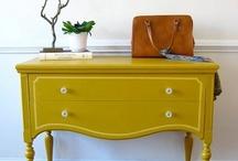 Vrolijk geverfde meubels   Happy painted furniture