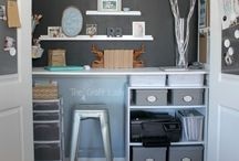 Organized office / Ideas for a home office