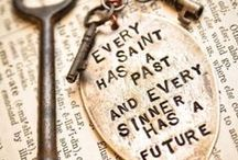 Stamped sayings....
