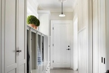 Mudrooms / A collection of inspirational ideas and decor for all things mud room and side entryway.