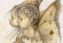 "Fae / ""I met a lady in the meads, full beautiful - a faery's child, her hair was long, her foot was light, and her eyes were wild. . . . I set her on my pacing steed, and nothing else saw all day long, for sidelong would she bend, and sing a faery's song."" --John Keats, La Belle Dame Sans Merci / by Pherenike"