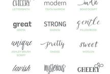 Fonts + Typography