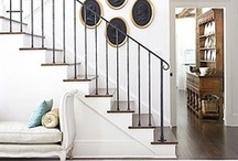 Staircases / Beautiful staircase and railing design and inspiration.