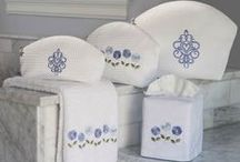 Gift Ideas from Jacaranda Living / Beautify your home with our embroidered guest towels, boudoir pillows, bed sets, and table napkins.