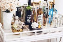 Bar Cart / Beautiful and inspirational bar car decorating and styling. / by Life On Virginia Street