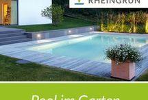 Pool im Garten / Moderne Architektur mit exklusiver Gartengestaltung. Von der Idee bis zum perfekten Garten. Rheingrün Gartengestaltung.  #pool #swimmingpool #modern