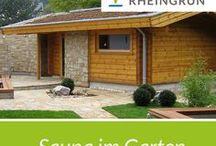 Sauna im Garten / Saunalandschaften im öffentlichen und privaten Berech von Rheingrün Gartengestaltung.