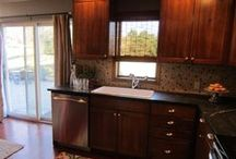 """HGTV Catastrophe Inc """"before"""" & """"after"""" photos / HGTV """"After"""" Photo of the kitchen from HGTV """"Catastrophe Inc."""" with Saratoga Soapstone countertops fabricated and installed by Eastern Surfaces in PA."""