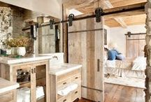 Bathroom Inspiration / Inspiring bathroom interiors featuring stone, wood and soapstone countertops. Renovating a bathroom made simple by Artisan Group!