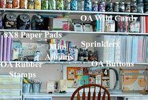 Scrap Spaces and Craft Organization