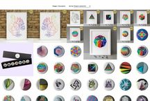 "Stereohype goodies / Welcome to the colourful world of graphic art label and online boutique Stereohype. The range includes the ever-growing collection of popular 1"" (25mm) button badges created by new and established artists, designers, illustrators and photographers from around the world. Since 2004 the button badge collection has already been growing to over 1,000 individual designs."
