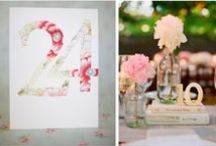 Wedding Details / Inspiration for escort cards, table signs and small details
