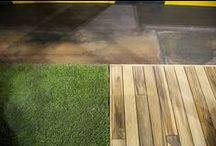 Wood flooring / parquet-decking