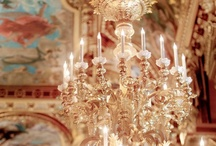 Candles, Lamps & Chandeliers / The world is a much more beautiful place because it hosts the like of candles, aromatic-- and because stained glass lamps are like jewels and chandeliers turn the most drab place into the most chic.    / by SueEllen Trout