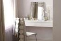 Dressing tables, accessories / I so love having space to play with make up and perfume.  / by SueEllen Trout