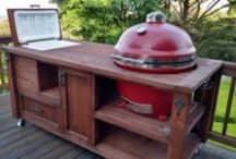 Grill Tables & Rustic Cooler Bars, Tables & Cabinets / Reclaimed & rustic furnishings for indoor and outdoor living.  Grill tables, cooler bar carts, islands, mini outdoor kitchens and more.