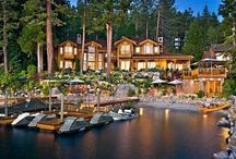 Winter Home: Lake Tahoe / Gorgeous homes for winter fun. Be it skating, snow shoeing or skiing ~ if there's snow it's where we'll go! ❄⛄ / by Shelley