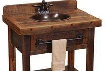 Bathroom Vanities & Storage / Bathroom vanities and cabinets. Created or recreated by Rustic WoodWorx.
