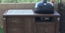 Primo Grill Tables & Grill Cabinet